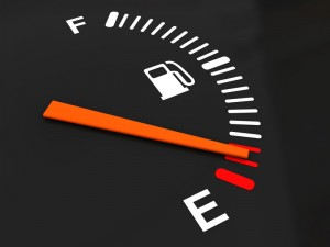 3d illustration of generic fuel meter over dark background